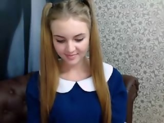 Amazing Cute Pigtail Stripper Teen Webcam