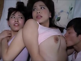 Asian Daughter Family Japanese Sister Threesome
