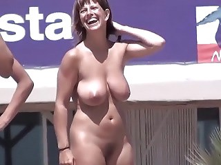 Amateur Big Tits  Natural Nudist Outdoor Public