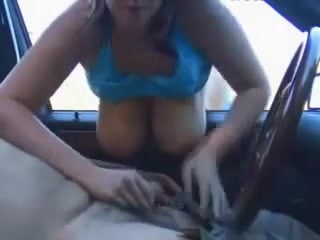 Amateur Big Tits Cash Car Handjob  Natural