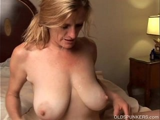 Big Tits Blonde Mature Mom Natural