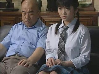 Asian Daddy Daughter Old and Young Pigtail Student Teen Uniform