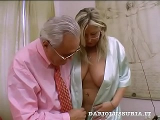 Big Tits Blonde Daddy Glasses  Natural Piercing Teacher Vintage