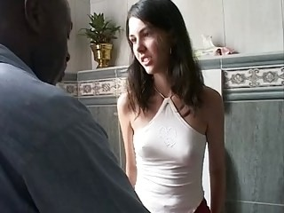 Brunette Interracial Old and Young Skinny Small Tits Teen