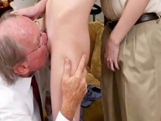 Daddy Licking Old and Young Teen Threesome