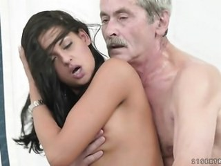 Babe Brunette Cute Daddy Daughter Old and Young Teen