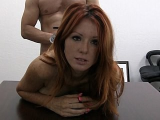 Anal Casting Doggystyle  Office Redhead