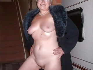 Amateur Glasses Mature Natural Shaved Wife