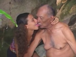 Daddy Daughter Licking Old and Young