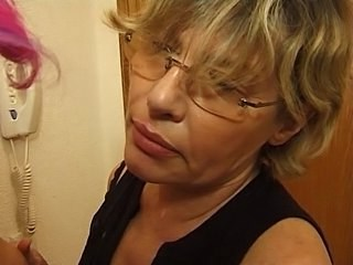 Blonde Glasses Mature Mom