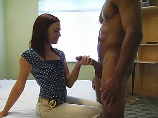Handjob Interracial