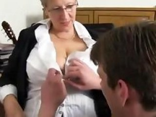 Big Tits Glasses Mature Mom Old and Young