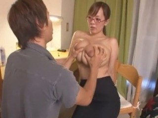 Amazing Asian Big Tits Cute Glasses Japanese  Natural Pornstar Teacher